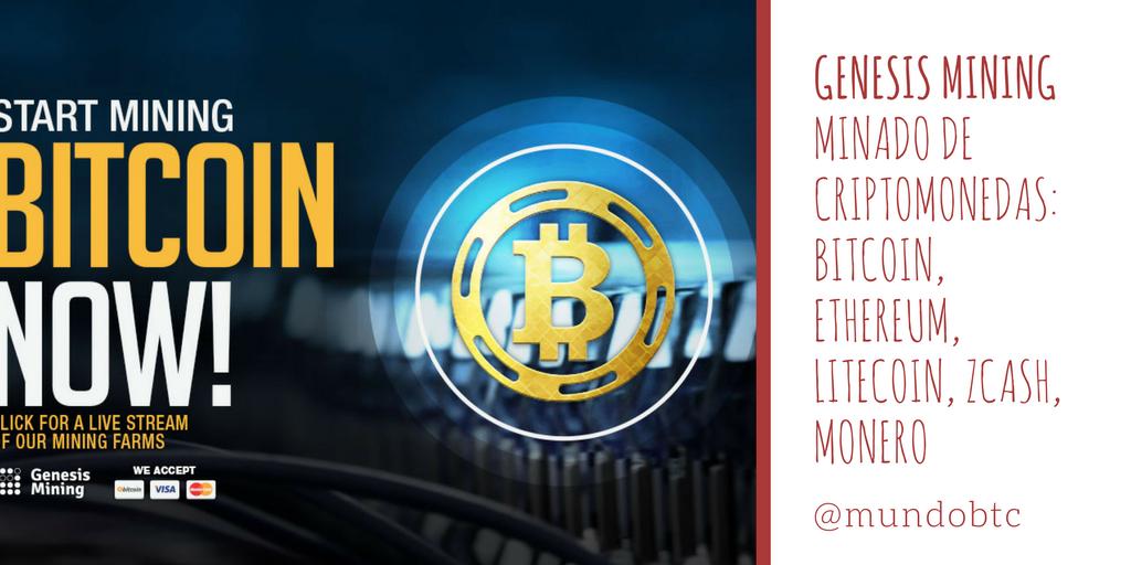 Genesis Mining: Minado Bitcoin, Ethereum, Litecoin, Zcash, Monero y otras Criptomonedas