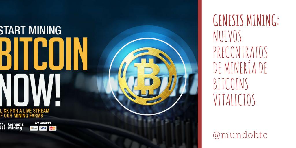 Nuevos Pre-Contratos de Minado de Bitcoin Vitalicios en Genesis Mining