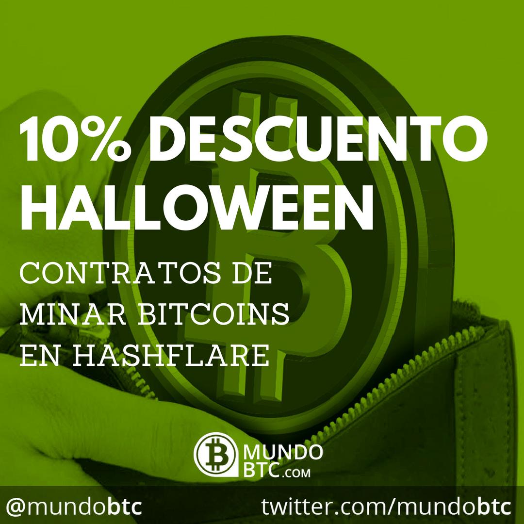 10% DESCUENTO HALLOWEEN: Contratos de Minar Bitcoins en Hashflare