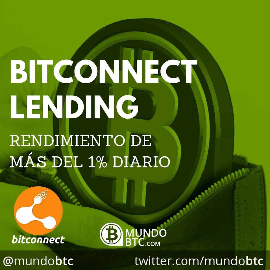 Bitconnect: Depósitos de Lending al 1% Diario