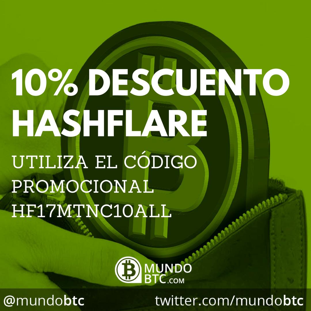 Hashflare Prolonga su Descuento del 10% en Potencia de Minado Bitcoin