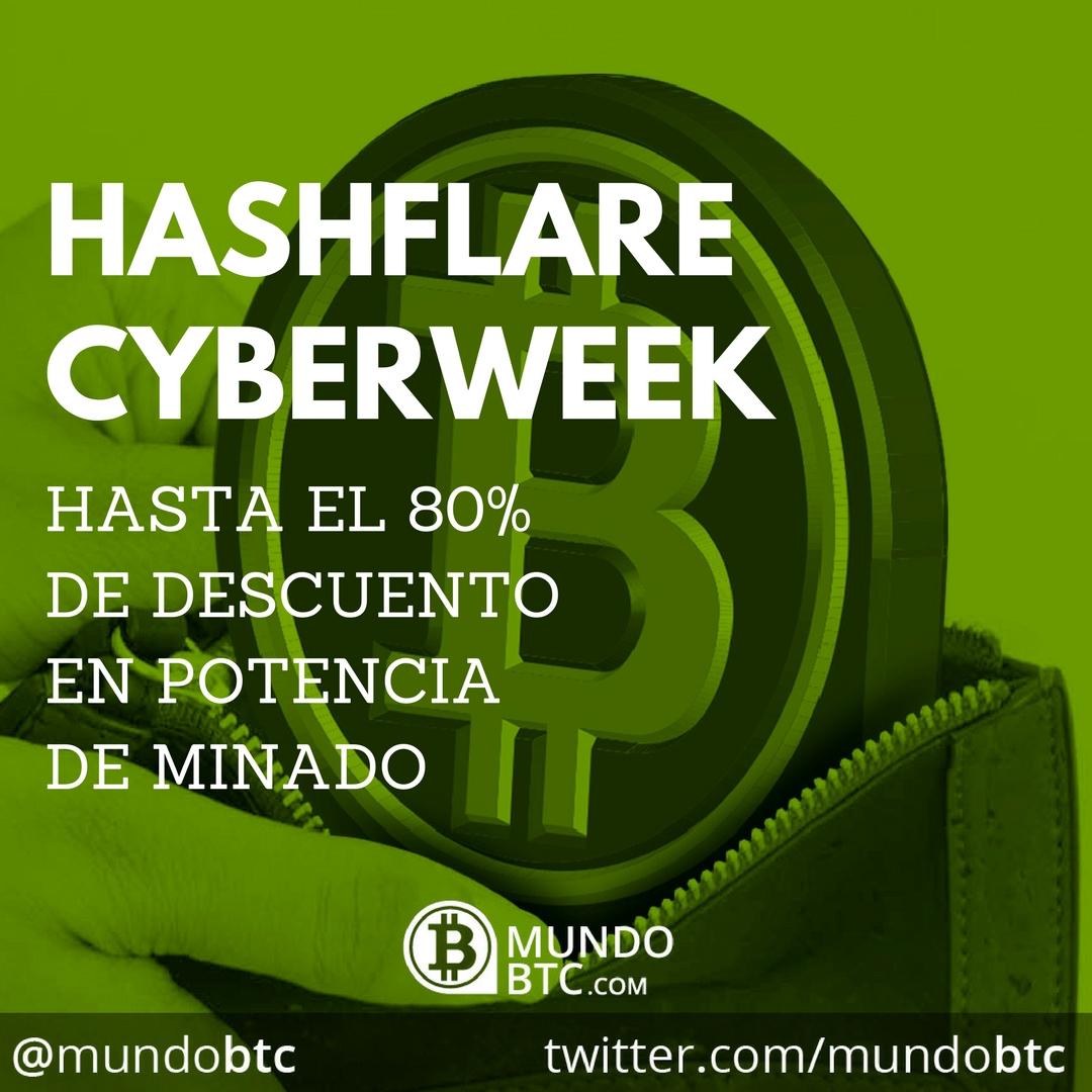 Hashflare Cyberweek: Hasta el 80% de Descuento en Minado de Criptomonedas
