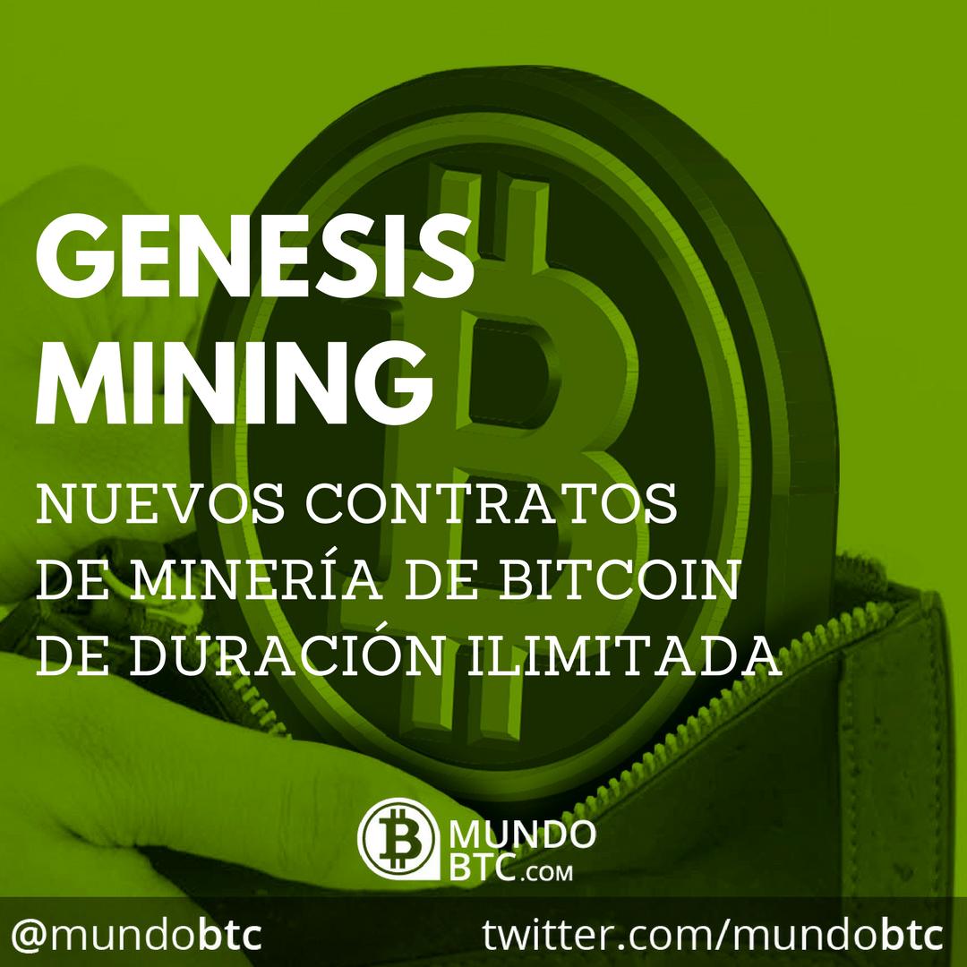 Preventa de Contratos de Minería de Bitcoin de Duración Ilimitada de Genesis Mining