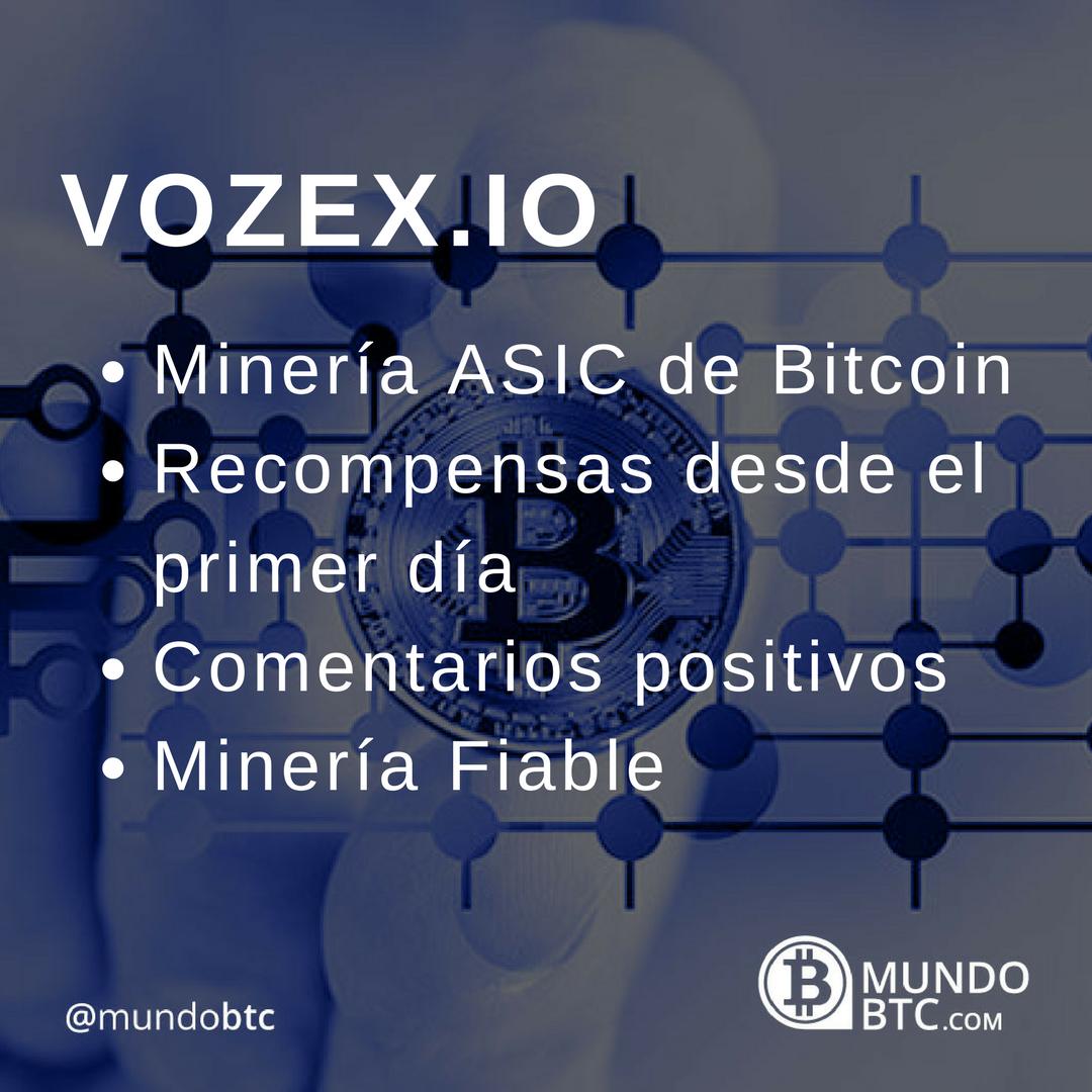 Vozex Minado ASIC de Bitcoin en la Nube